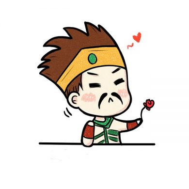 Hinh avatar chibi Draven tang hoa