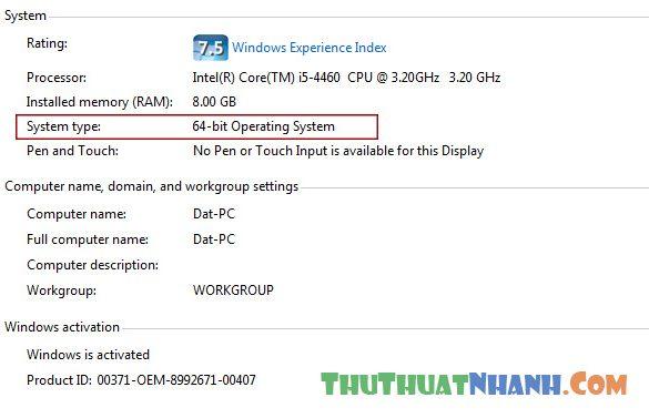 The nao la windows 32-bit va windows 64-bit