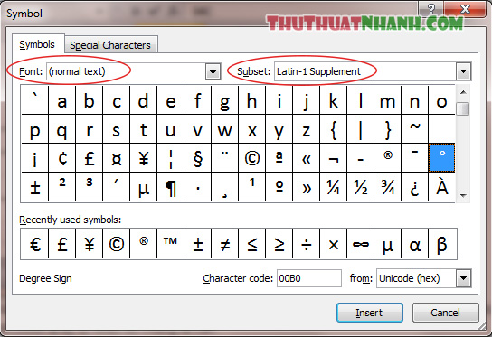 Dung thu vien Symbol de viet do C trong Excel