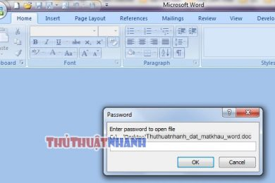 huong dan tao password cho file word excel
