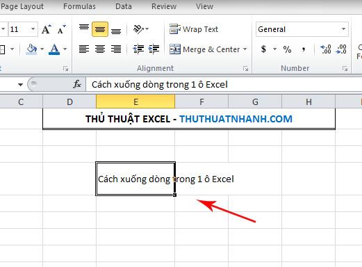 Noi dung bi tran khoi o Excel
