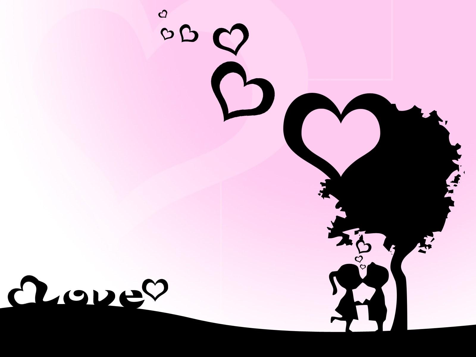 Ảnh nền tình yêu dễ thương và lãng mạn, bay bổng.