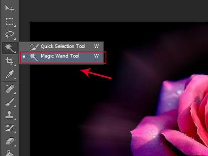 cong cu Magic Wand Tool trong Photoshop