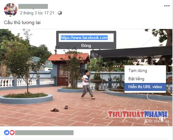 cach copy duong dan video tren facebook