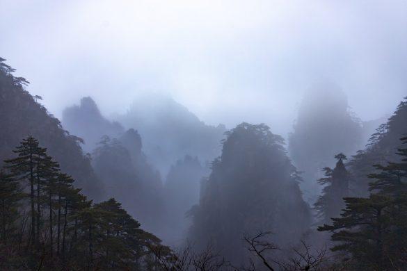 hình ảnh sương mù trên núi cao