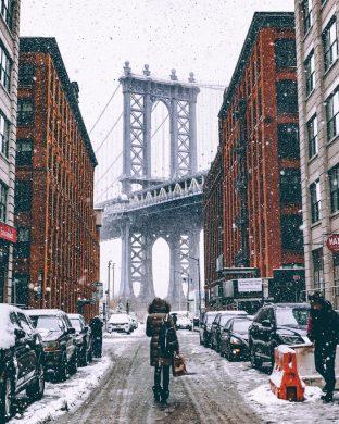 hình ảnh thành phố trong những ngày tuyết trắng