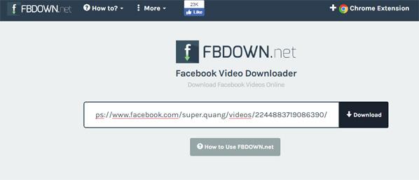 paste link video facebook vao khung dowload