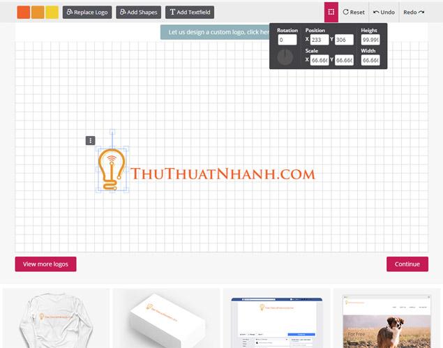 tao logo online dep voi designmantic