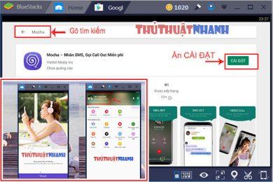 Cách dùng Mocha trên máy tính, Gọi điện-nhắn tin Viettel miễn phí!