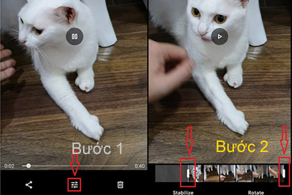 cat video tren dien thoai voi google photos