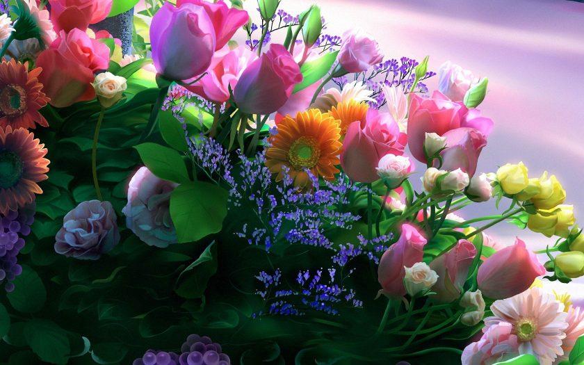 hinh anh bo hoa hong