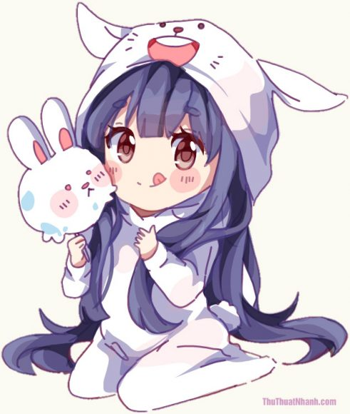 hinh cute chibi girl