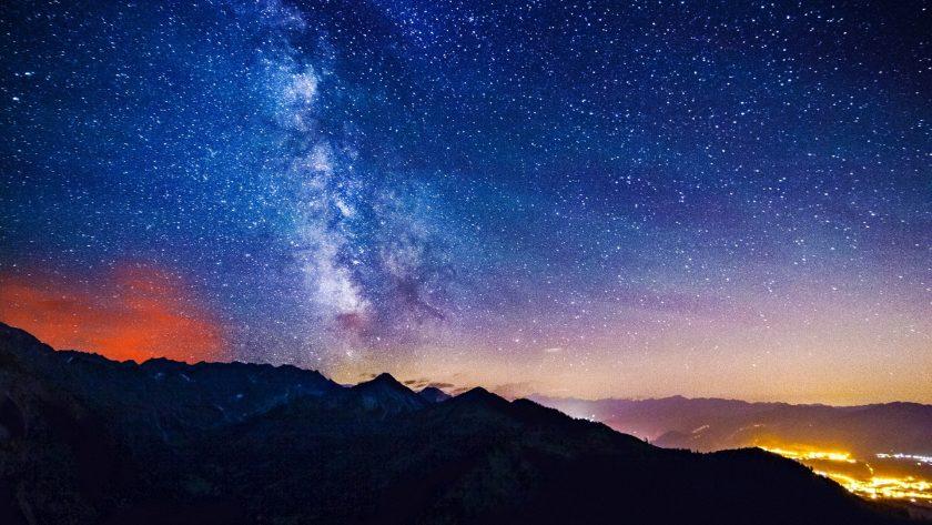hinh nen thien ha Milky Way