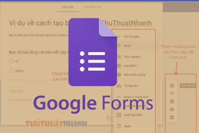huong dan tao google form va nhung vao website blog