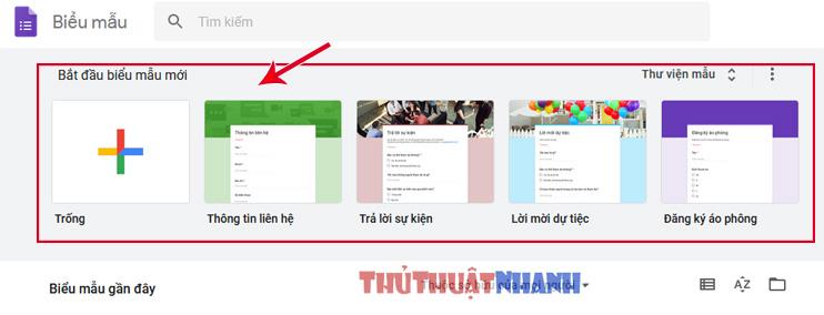 tao google form va nhung vao website blog