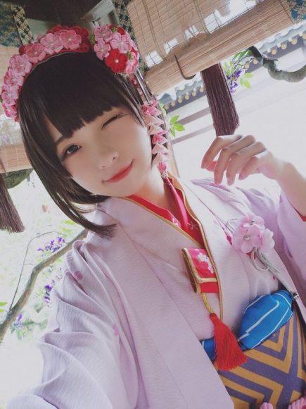xem hinh girl Nhat Ban cute vs Kimono