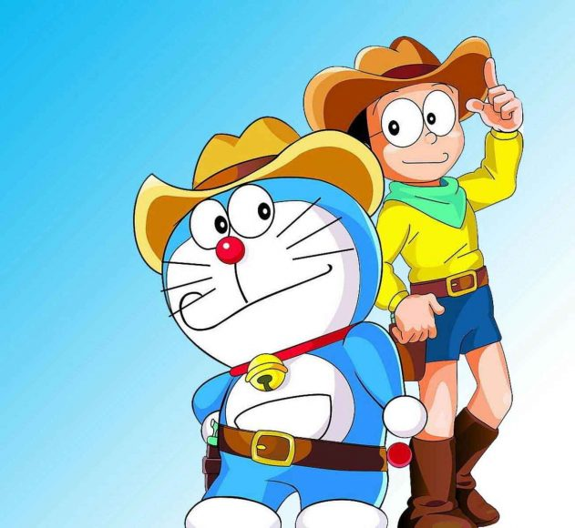 anh Doremon va Nobita cao boi ngau nhat