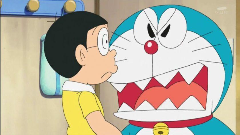 hinh Doremon noi gian voi Nobita
