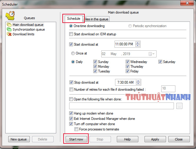 huong dan thiet lap download later lan luot voi idm