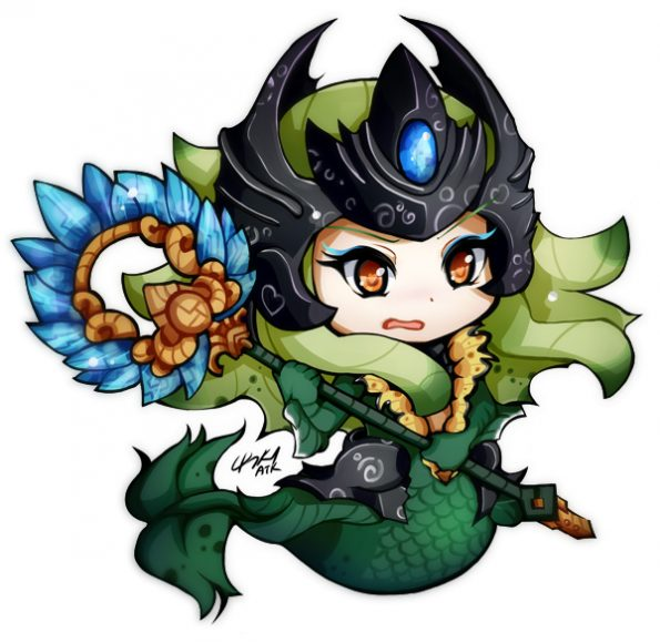 anh anime chibi Nami game LOL