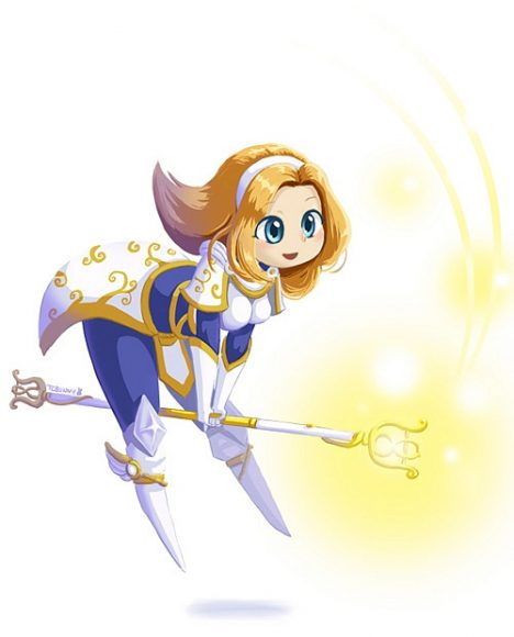anh chibi tuong Lux trong LOL