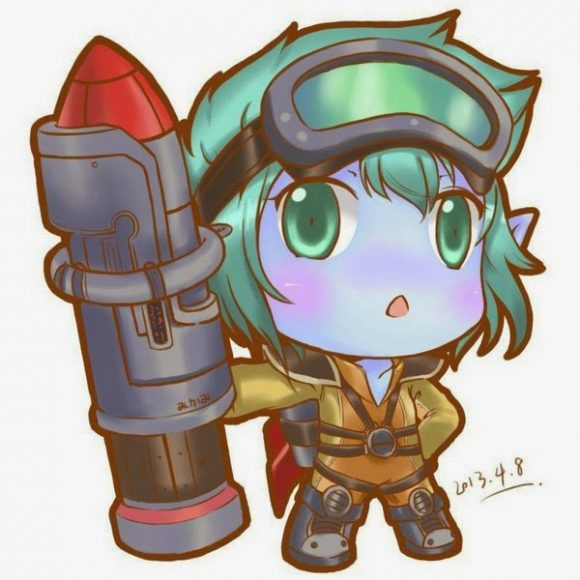 anh chibi tristana game lol