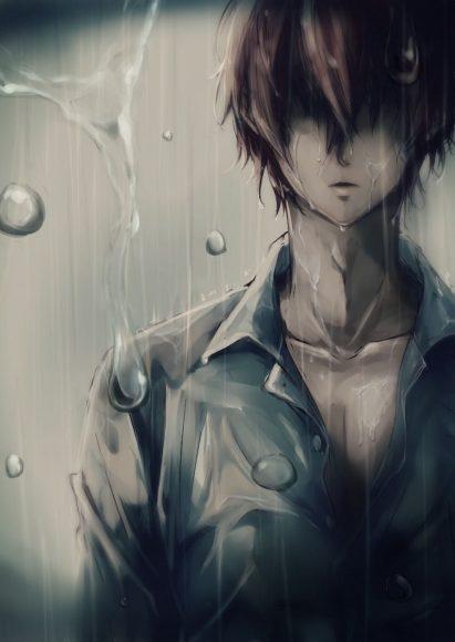 ảnh nền anime nam buồn