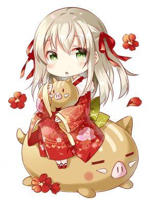anime chibi girl cute