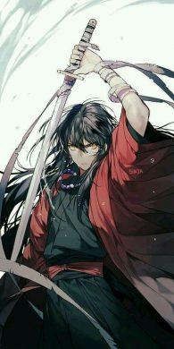 hình ảnh anime boy cầm kiếm ngầu lạnh lùng