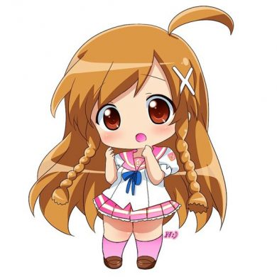 hinh anime chibi girl de thuong