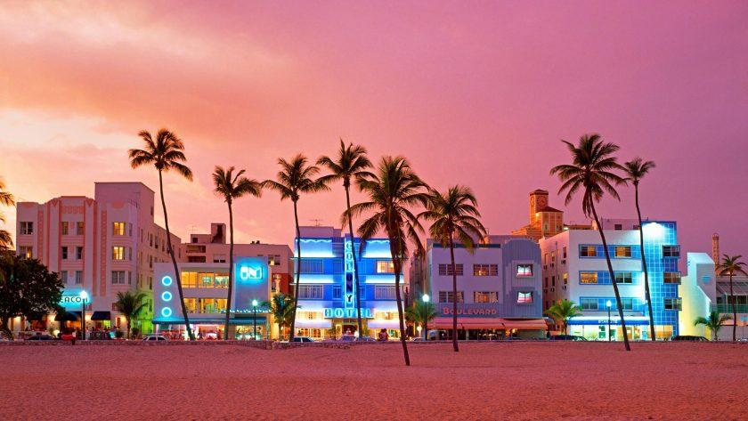 hinh nen Bing ve OceanDrive tai Miami