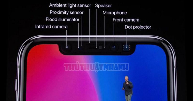 cam bien bao mat Face ID tren iPhone X
