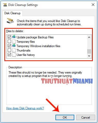 don rac windows 10 bang Disk Cleanup