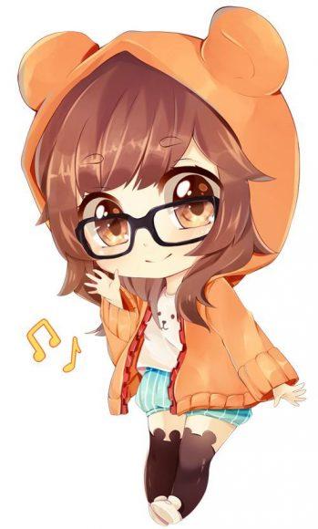 hinh anh avatar chibi cuc cute de thuong cho facebook
