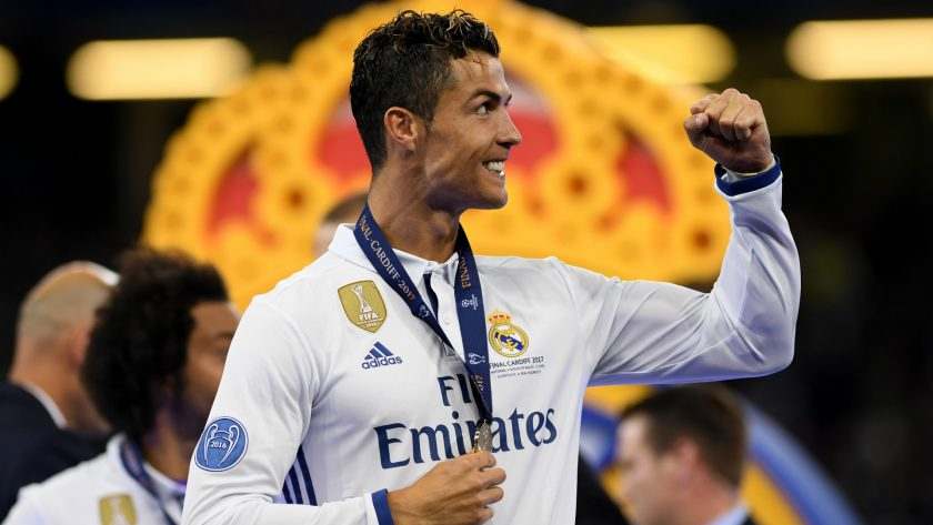hinh anh Ronaldo vo dich champions league
