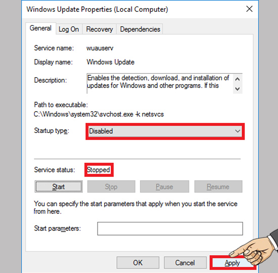 tat windows 10 update cho may tinh