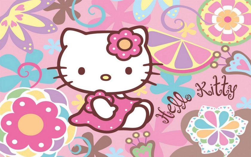 Ảnh mèo Hello Kitty đẹp cho bé.