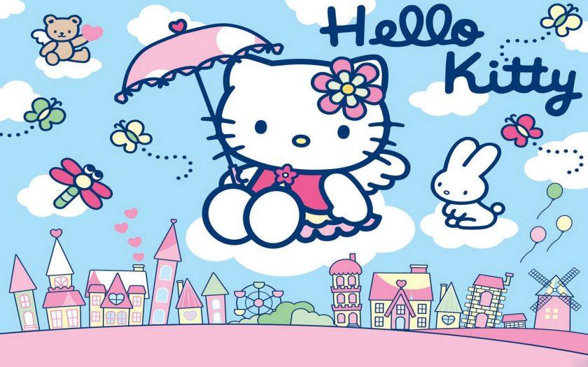 anh meo con Hello Kitty