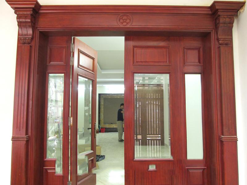 Kết quả hình ảnh cho mẫu cửa gỗ khuôn dày