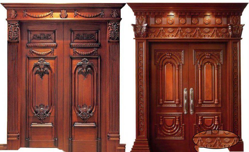 Hình ảnh cửa gỗ 2 cánh đẹp sang trọng quý phái