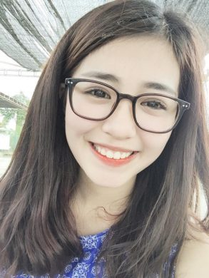 hinh anh girl xinh deo kinh gong tron cute tre trung