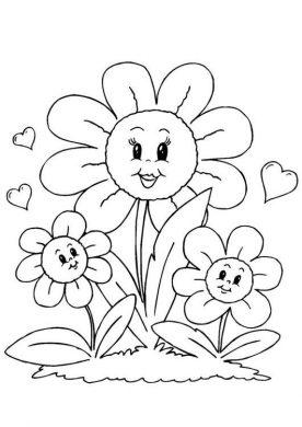 hinh anh hoa dep cho be tap to mau