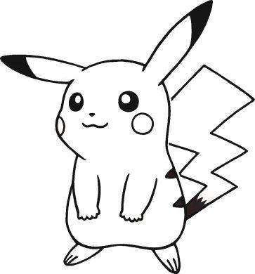 hinh anh Pikachu cho be tap to