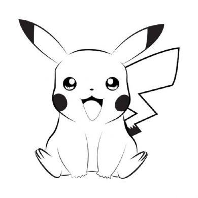 hinh den trang Pikachu dang yeu