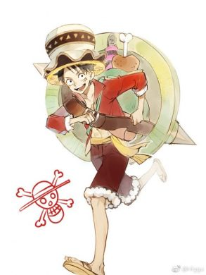 hinh Luffy cute