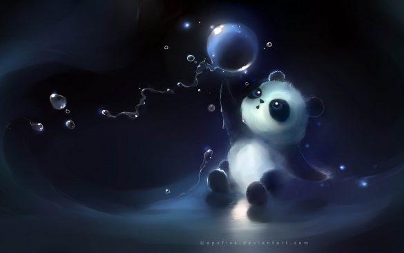 Hình nền 3D chú gấu Panda