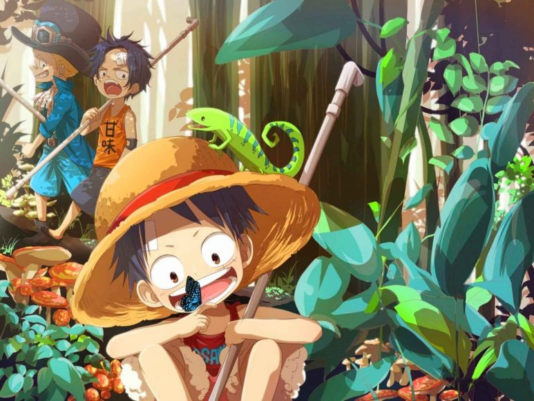 hinh nen anime One Piece de thuong