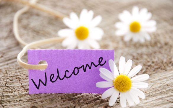 hinh nen welcome - chao mung cho powerpoint don gian ben cuc hoa mi