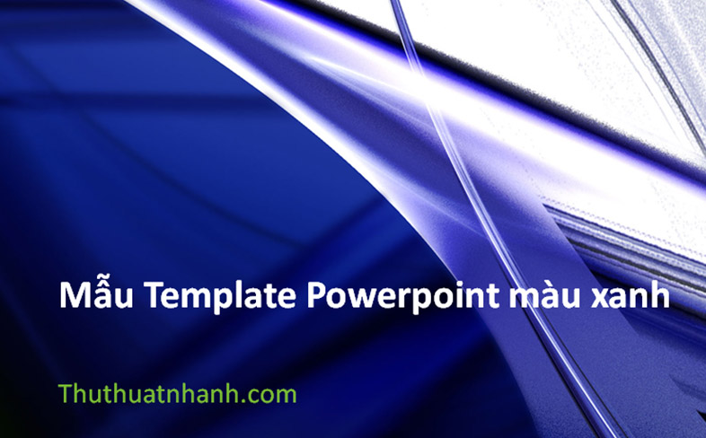 mau template powerpoint mau xanh