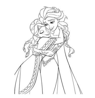 mau tranh to mau cong chua Elsa vs Anna